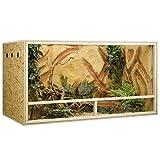 Concepto de madera de terrario OSB, 150 x 80 x 80 cm, ventilación lateral