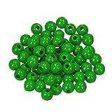 efco 1401261 - Abalorios para bisutería (110 Unidades, 6 mm, Madera), Color Verde Manzana