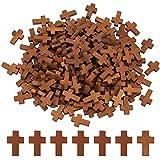 SUNNYCLUE, 200 Uds, Cruces de Madera Natural con Orificio de 1.8 mm, Colgantes de Cuentas de Cruz de Madera para Manualidades DIY, Pulsera, Accesorios para Hacer Joyas