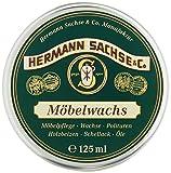 Hermann Sachse Cera para muebles para madera adecuada para todo tipo de madera cera natural para el cuidado de muebles de madera y antigüedades tarro de 125ml
