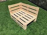 CHAISLONGE Sofa PALETS Lijado Y Cepillado - Medida 120cm X 80cm -Interior/Exterior Nuevo-Natural Sillon PALETS
