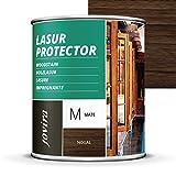LASUR PROTECTOR MATE Protege, decora y embellece todo tipo de madera (750 ML, NOGAL)