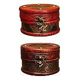 IWILCS Cofre pequeño de Madera, 2PCS Mini de Cofre del Tesoro, Tesoro Pirata, para almacenar Collares, aretes, Anillos, etc