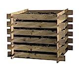 Compostador Abono de Madera Construcción 100x100x70cm Compostador