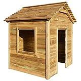 vidaXL Casa de Juegos de Jardín Madera de Pino 123x120x146 cm Juguetes de Terraza Exterior