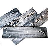 Shabby - Panel de imitación de madera de poliestireno expandido Resinado - Dimensiones: 100 x 25 cm - 1 unidad