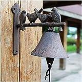 Campana de Pared Campana de hierro fundido de la decoración antigua campana de hierro pesado de la puerta de hierro fundido de la campana de la pared aparte en una antigua vintage rústico Soporte de l