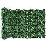 AGJIDSO Pantalla de Cerca de privacidad de Hiedra Artificial, 100 * 300 cm césped de imitación de jardín de,decoración de Hojas de Planta Falsa para jardín de Valla (Hoja de Manzana)