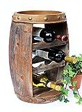 DanDiBo Botellero vino Barril 1555Bar Botella Soporte 50cm para 8fl. Estantería Barril Madera Barril