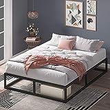 Estructura de cama metálica ZINUS Joseph 25 cm | Base para colchón | Somier de láminas de madera | Almacenamiento debajo de la cama | 150 x 190 cm | Negro