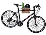 Soporte para bicicletas de bambú COR Surf, soporte plegable para bicicletas montado en la pared, soporte para bicicletas fácil de usar
