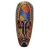 Black Temptation Máscara Africana pequeña Artesanía Colgante de Pared Estilo del sudeste asiático Máscara de Madera Decoración de Arte de Pared para el hogar Bar Pub, patrón Aleatorio