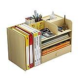 Organizador de archivos de madera, escritorio multifuncional organizador A4, caja de almacenamiento cajón, soporte para bolígrafos, para suministros de oficina en el hogar, color Arce blanco.