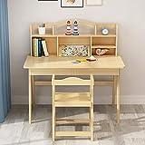 Silla y Mesa para niños Medios infantil Escritorio y silla de madera juego de escritorio de escritorio del dormitorio Estudiante gran regalo for las muchachas y los muchachos Adecuado para escritorios