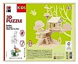 Marabu Kids 3D-Puzzle de Madera (37 Piezas, Aprox. 28 x 26 cm), diseño de casa del árbol, Color (0317000000011)