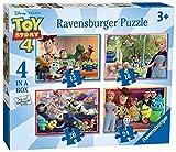 Ravensburger-6833 Ravensburger Disney Toy Story 4, 4 Pulgadas Caja (12, 16, 20, 24 Piezas) Rompecabezas para niños a Partir de 3 años, Multicolor, 0 (6833)