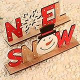 KARAA 2 Piezas Letras Navidad Madera decoración Letrero Letrero de Madera decoración de Invierno 23cm Noel/Soporte de Letras de Nieve