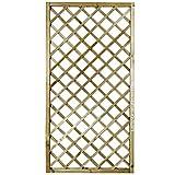 Suinga PANEL DE CELOSIA recto 50x180 CM, cuadros 9 cm. Altamente decorativo, alcanzando la ocultación o delimitación deseada en su jardín, terraza, etc.