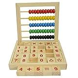 Cuentas coloridas de madera Ábaco Matemáticas Educativas Contando números Bloques Matemáticas Juguetes para Niños
