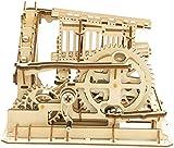 Robotime Laser Cut Puzzle de Madera   Kit de construcción Set Model   Juego de Puzzle en 3D (Cog Coaster)