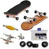AumoToo Mini Diapasón, Patineta de Dedos Profesional Maple Wood DIY Assembly Skate Boarding Toy Juegos de Deportes Niños (Negro)