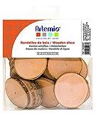 Artemio - Discos de Madera (180 g, 40 Unidades), Color marrón Madera