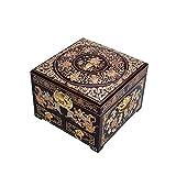HAIHF Organizador de Joyería,Joyero Caja Madera Almacenamiento Chino Almacenamiento de joyería Artesanal Caja de