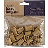 Papermania - Bobinas de Madera (22 Unidades), Color marrón