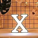 sunnymi - Luces LED con letras y alfabeto para colgar de la letras de la A a la Z, diseño de la palabra de la A a la Z, para fiestas de cumpleaños o bodas, ABS + polipropileno., madera, 14X18X3.8cm