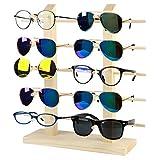 JUSTDOLIFE Expositor De Gafas De Madera Soporte De Gafas De Sol Estante De Gafas De Sol Creativas Estante De Anteojos