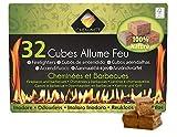 Cheminett S&M 15751 Cubos Encendido precortados Naturales para encender chimeneas, Estufas y barbacoas, Marrón