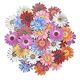 50 Piezas Botones Madera de Crisantemo Botones de Madera para Scrapbooking Crisantemo para Coser Manualidades Decoración Accesorios Costura Recortes Adornos Botones
