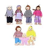TOYMYTOY 7pcs muñecas de Madera de la Familia fingen el Juego de la Familia de muñecas Set para niños niños 2018 Regalo de cumpleaños de año Nuevo