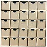 Decopatch HD018O Calendario de Adviento marrón Manilla Board, 5x25x25cm