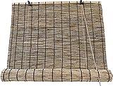 Estores de Bambú Cortina de Madera Natural   Persiana Enrollable para Ventanas (Bambú Beige, 120_x_200_cm)