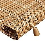 Persiana Bambu Exterior- Persiana Enrollable - Persianas de Madera,Estor Enrollable de Bambú Filtrado de Luz,Cortina Decorativa Anti-UV a Prueba de Polvo para Interior/Exterior (100x220cm/39x87in)