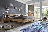 HOLZWERK24 - Cama de madera maciza (200 x 200 cm, madera de haya)