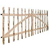 Portillo doble para valla de madera de corylus 300x 120cm