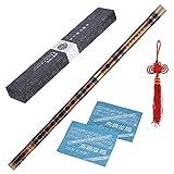 ammoon Enchufable Flauta de Bambú Amargo Dizi Tradicional Hecho a Mano Musical Chino Instrumento de Viento de Madera Clave de G Nivel de Estudio Profesional Actuación