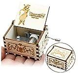Cuzit Caja musical de madera con diseño de pelota de dragón tallada, diseño antiguo