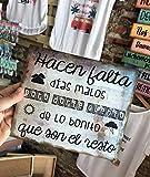 Cuadro de madera con frases y mensajes positivos e inspiradores para decorar el hogar y regalar'Hacen falta días malos.'