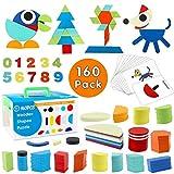 StillCool Tangram de Madera, 160 PZS Tangram Puzzle de Montessori Educativo y Inteligencia de Desarrollo con Caja Almacenamiento y 60 Tarjeta para Niños Mayores de 2 Años - Colores