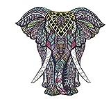 Rompecabezas de Madera | Rompecabezas de Animales de Madera de Elefante de Forma única | Puzzle Animales para Adultos y Niños (E)