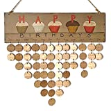 Calendario de Madera,Recordatorio de cumpleaños de madera calendario,Calendario de Bricolaje,Para la decoración del hogar, placa recordatorio de la fiesta de cumpleaños