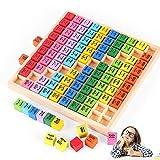 O-Kinee Tabla de Multiplicación,Juego Tablas de Multiplicar,Tablas Multiplicar,ábaco de Madera,Juguete Educativo de matemáticas,Base 10 Matemáticas,Dados de Colores (Color)
