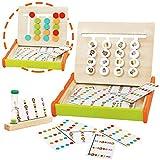 jerryvon Juguetes Montessori de Madera - Puzzle Juego Logica Juegos Educativos Bebé Bloques Clasificación de Animales y Colores Madera Juguete con 36 Juegos Rompecabezas para 3 4 5 Años