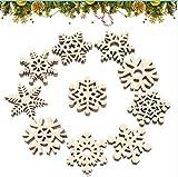 copo de nieve DIY Originales Colgantes, Colgantes de Madera para Árbol para Navidad,Colgante Navideño de Madera, Decoración del árbol Navideño, Decoraciones navideñas, Adornos de Navidad Madera