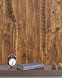 Papel Adhesivo Marrón Madera Roble Autoadhesivo Papel Pintado Marrón Grano 45x300cm Natural Imitación Madera Revestimiento Pared Impermeable para Habitaciones Armarios Cocinas Mesas Vinilos