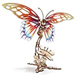 UGEARS Puzzle 3D Rompecabezas Mecánico - Mariposa Modelo de la asamblea 3D - Maquetas para Construir para Adultos en Madera - Kit de Construccion - Regalo Original para Adolescentes y Adultos