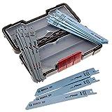 Bosch Professional Set Toughbox con 15 hojas de sierra sable para mdera y metal (madera y metal, accesorios de sierra sable)